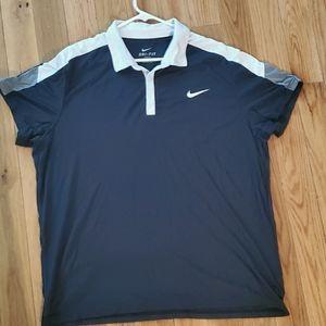 Nike Men's XXL Dri-Fit Collar Button Up